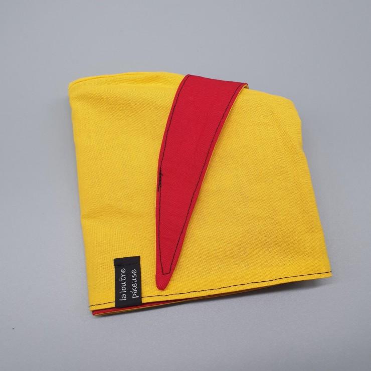 Calot de bloc rouge et jaune unis