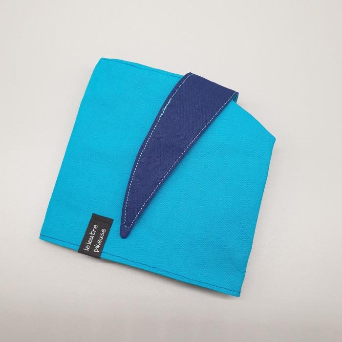 Calot de bloc bleu marine et turquoise unis