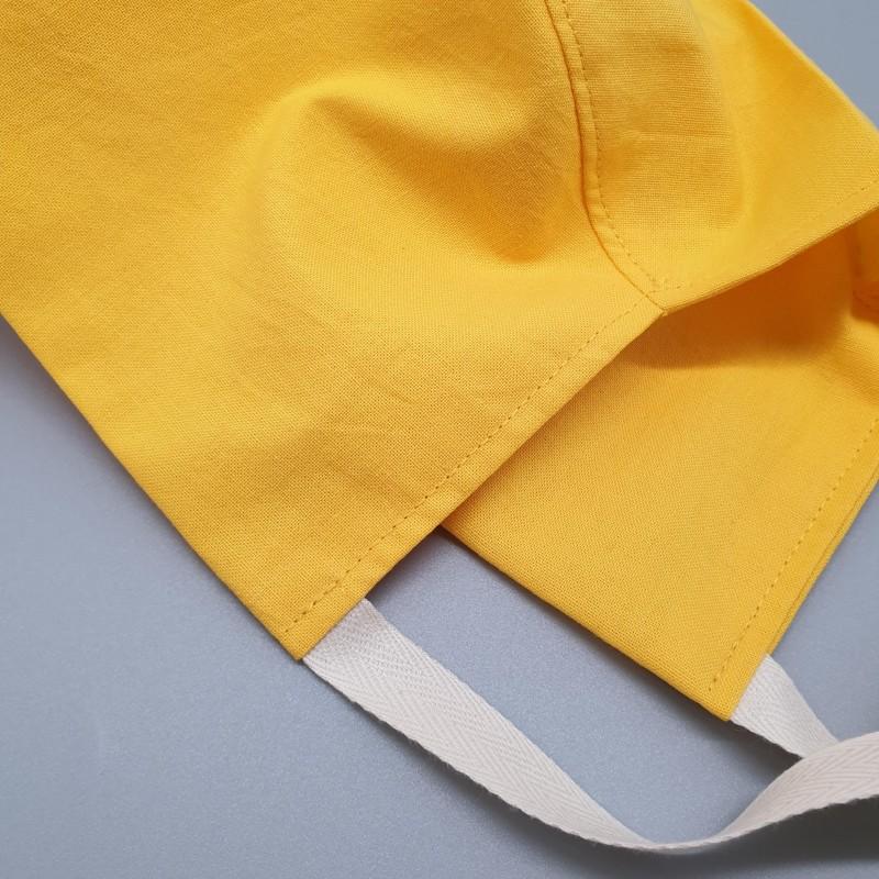 Calot court - jaune uni