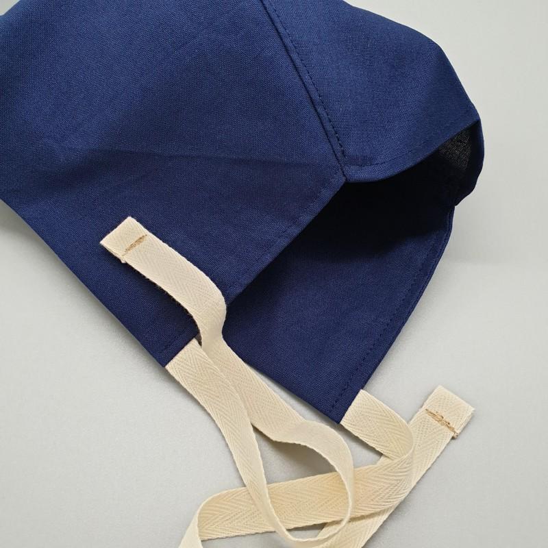 Calot court - bleu marine uni