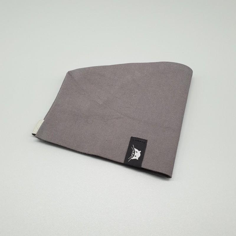 Calot court - gris uni