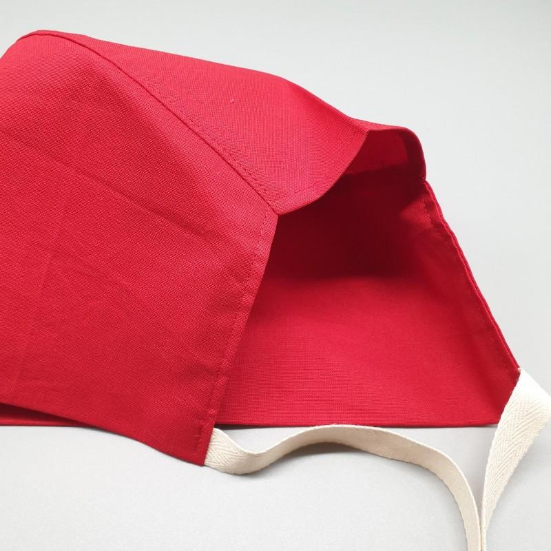 Calot court - rouge uni