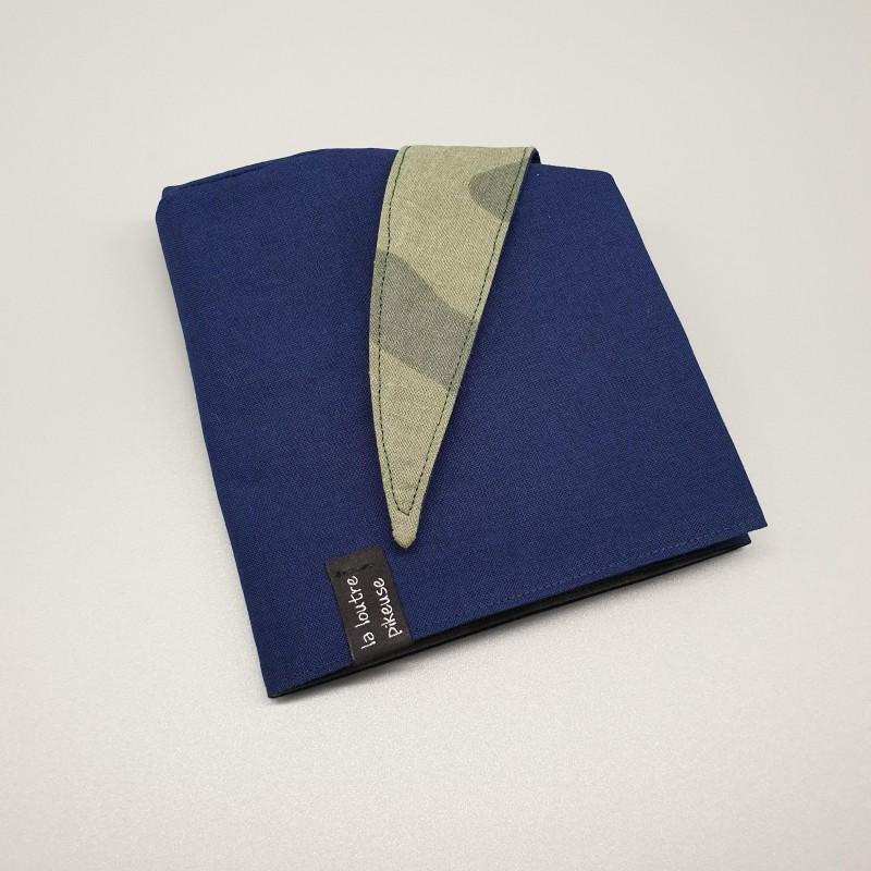 Calot de bloc bleu marine et camouflage vert
