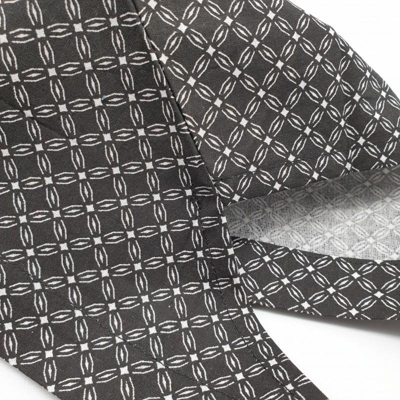 Calot de bloc - fleurs géométriques noires