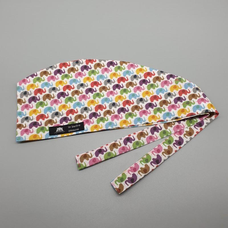 Calot de bloc - éléphants multicolores