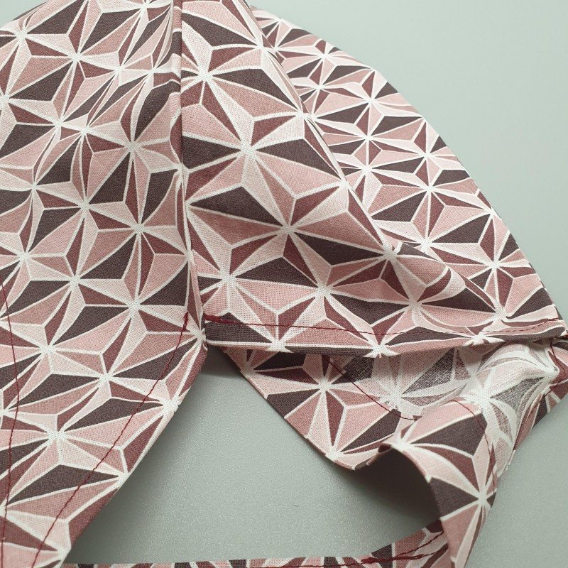 Calot de bloc - triangles bordeaux