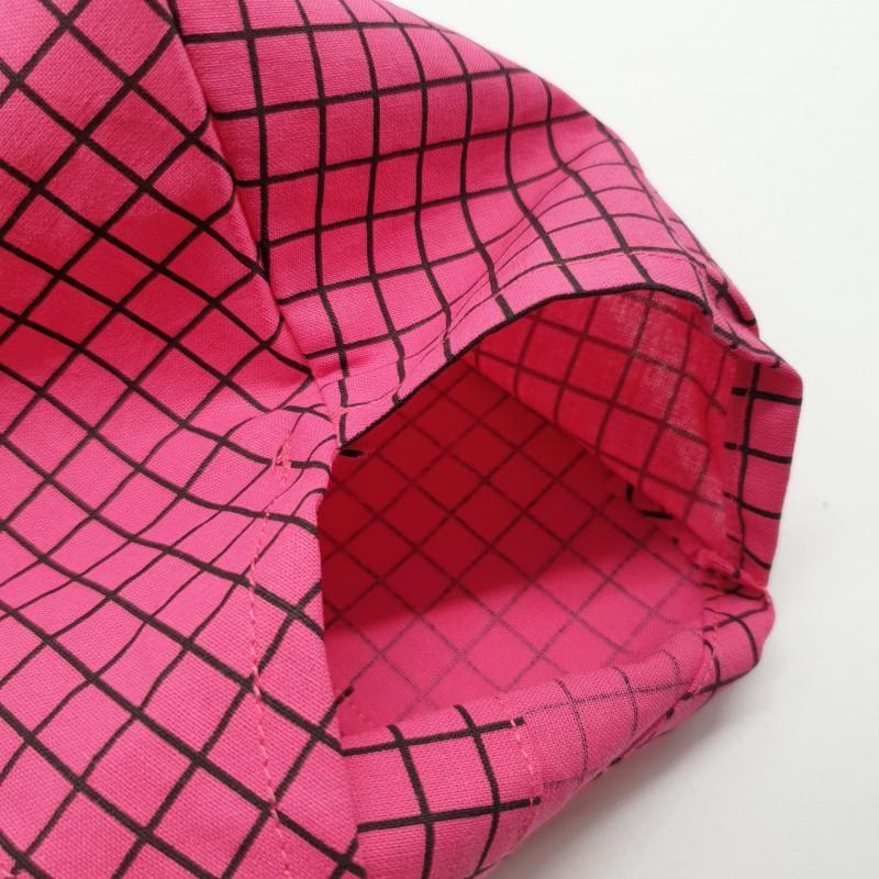 Calot de bloc - quadrillage rose