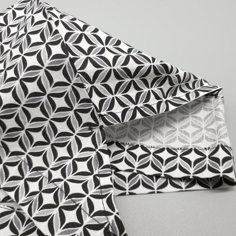 Calot de bloc - céramique noir, blanc et gris