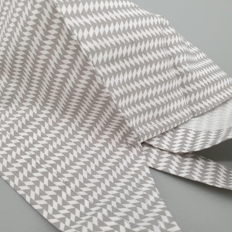 Calot de bloc couvrant - triangles gris