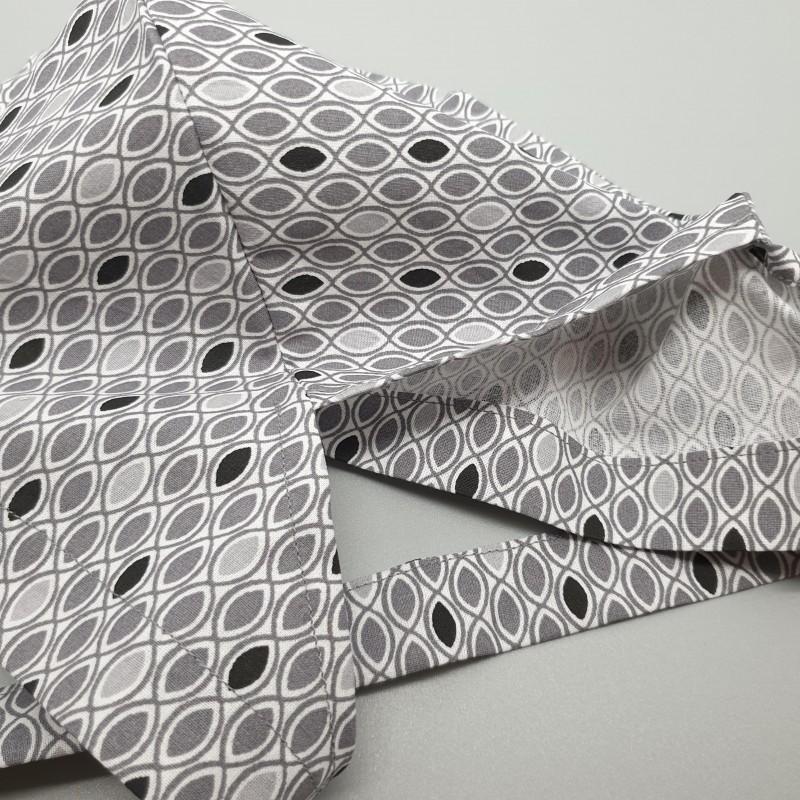Calot de bloc couvrant - géométrique noir et gris