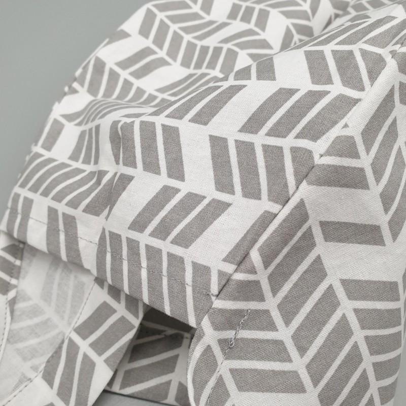 Calot de bloc couvrant - geométrique gris