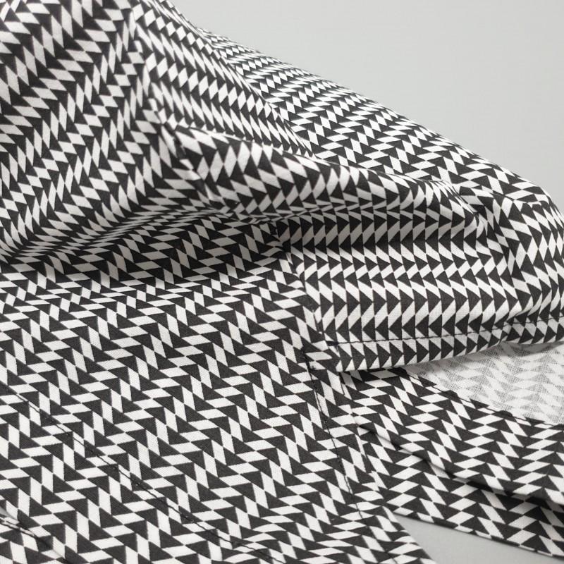 Calot de bloc couvrant - triangles noirs