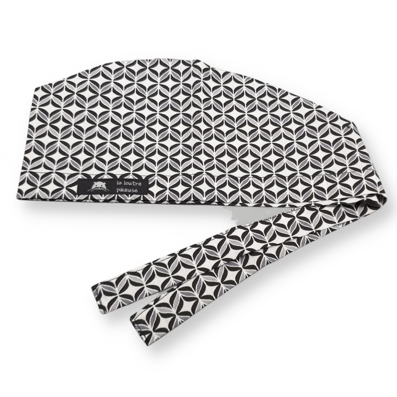 Calot de bloc couvrant - céramique noir, blanc et gris