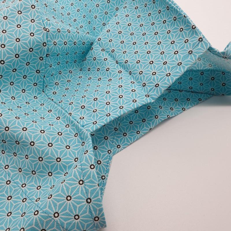 Calot de bloc couvrant - asanoha bleu clair