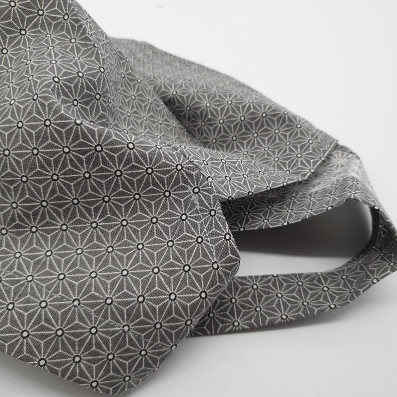 Calot de bloc couvrant - asanoha gris