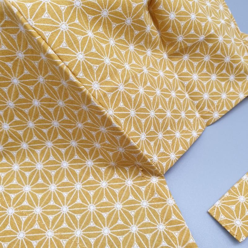 Calot de bloc couvrant - asanoha jaune