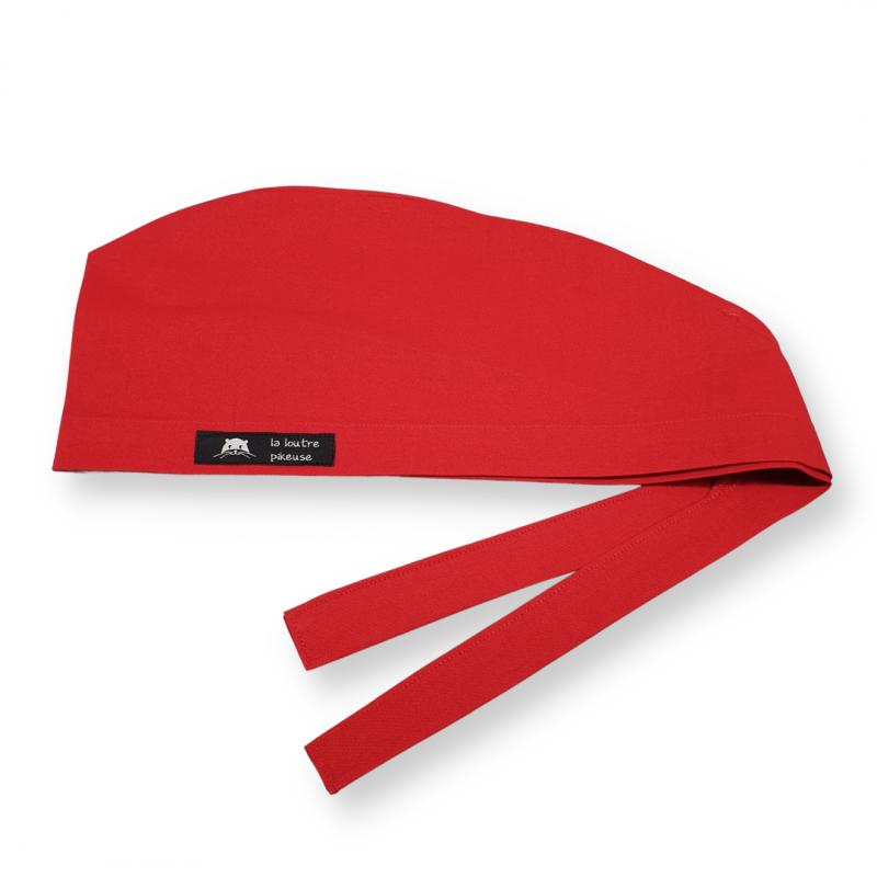 Calot de bloc couvrant - rouge uni