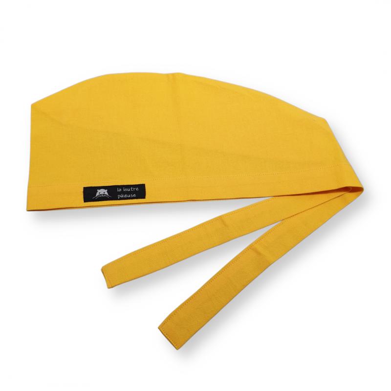 Calot de bloc couvrant - jaune uni