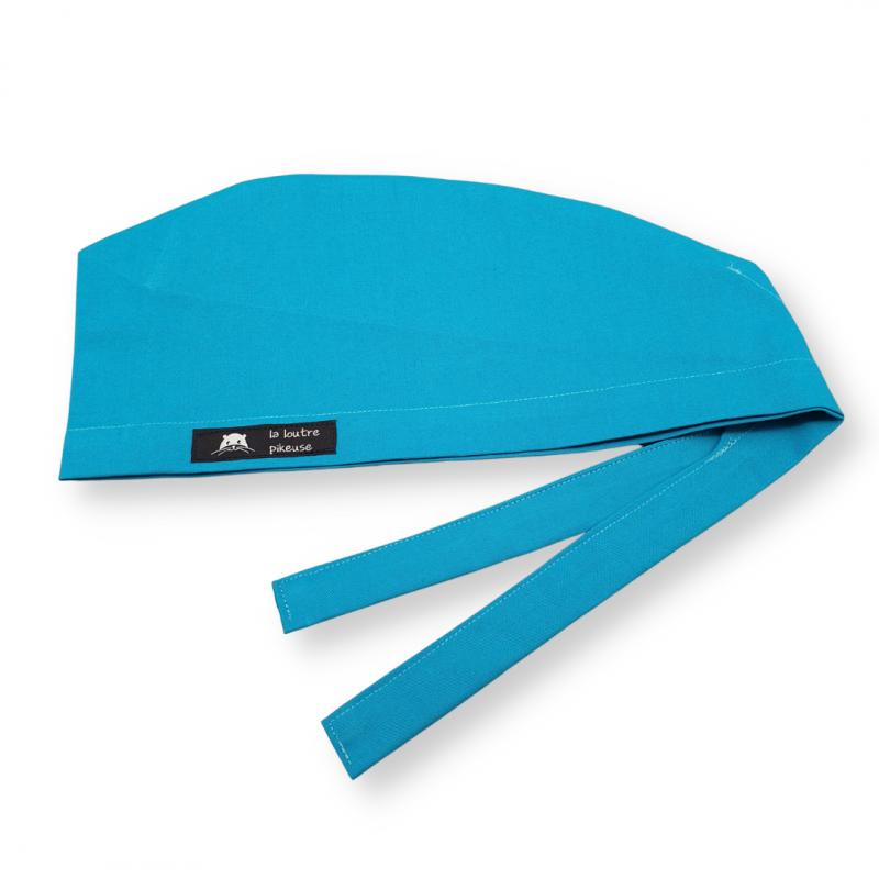 Calot de bloc couvrant - bleu turquoise uni