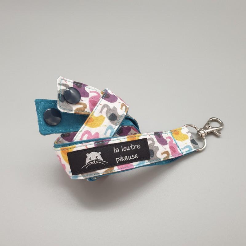 Cordon porte-clés -  éléphants multicolores