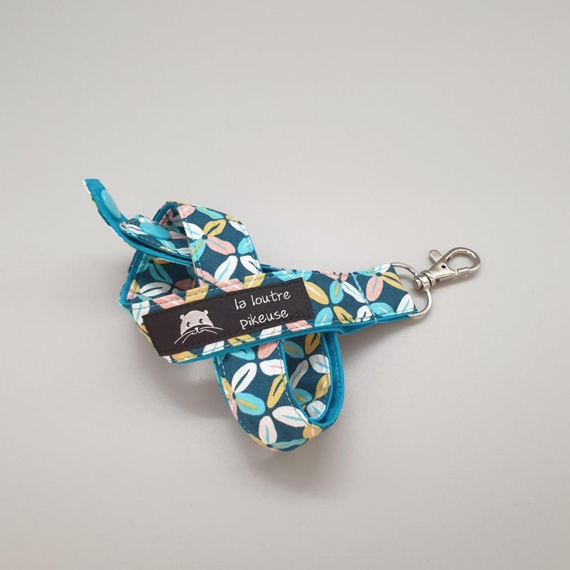 Cordon porte-clés - céramique turquoise