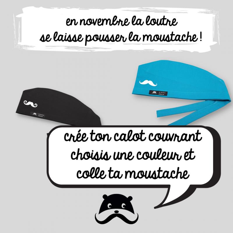 Calot de bloc couvrant - moustache