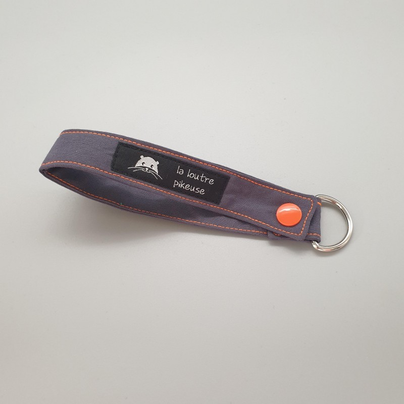 Porte-clé capsule fluo - anthracite