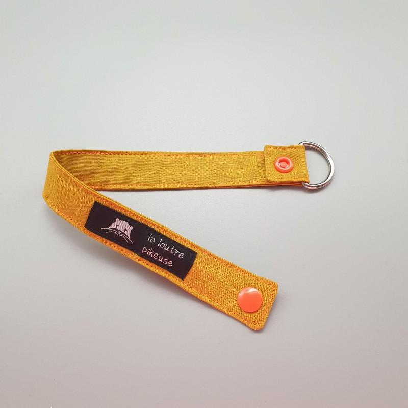 Porte-clé capsule fluo - ocre